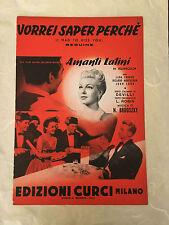 SPARTITO MUSICALE VORREI SAPER PERCHE' FILM AMANTI LATINI 1953 BEGUINE