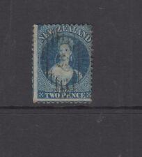 NZ 1865 2d Deep Blue CHALON p12½ wmk star SG114 cat £22 FU