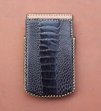 Genuine Ostrich Leather Pouch Case Cover for BlackBerry PORSCHE DESIGN 9983