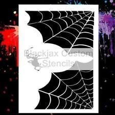 Corner Spider Webs & Spider Airbrush Stencil,Template