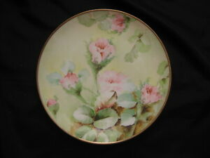 Ginori Richard Italy Hand Painted Signed FLORAL Cabinet Plate