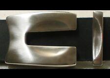 1A Gürtelschnalle NEU Gürtelbreite 3,5cm METALL massiv KOPPEL Farbe MATTSILBER #