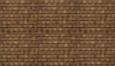 TWO BROWN ROOF SHINGLES DECALS MULTI SCALE DIORAMA ''PEEL AND STICK''