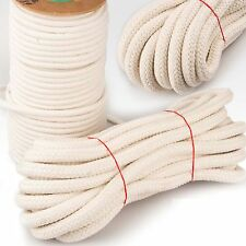 Cotton Rope Sash Cord Twine Washing Clothes Natural 100%25 16 Strand 4 -12mm