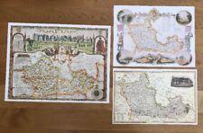 3 x Old Antique Colour maps of Berkshire, England: 1600's & 1800's: Reprint