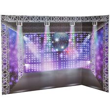 "2 sided background back drop display board for 18"" dolls 20 x 30 park and disco"