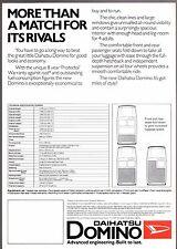 Daihatsu Domino 547cc 3-dr 1981-82 UK Market Leaflet Sales Brochure Cuore