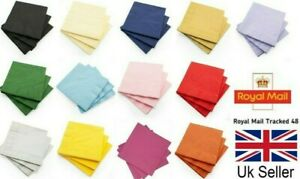 PAPER NAPKINS 33cm x 2ply Party Tableware Solid Colors All Occasion 20/40/80/100