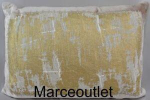 "Michael Aram Metallic Lace 14"" x 20"" Decorative Pillow Blush"