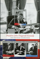 More details for tanzania 2017 mnh jfk john f kennedy 100th bday 4v m/s i us presidents stamps