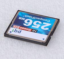 256MB HI-SPEED 40x PQI COMPACT FLASH CF-CARD SPEICHERKARTE 256 MB FLASHCARD #F33