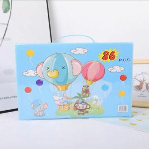 Art Set for Kids, 86 Pcs Drawing Art Kits, Portable Coloring Art Supplies (Blue)