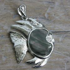 Pendant Black Shell Mother of Pearl Fish Jewelry Making t Beads  PE80