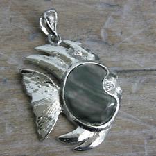 Pendentif noir coquille de nacre poisson Bijoux Making Perles PE80