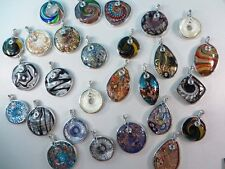 *US Seller*wholesale lot of 5 handmade glass pendant DIY scarf jewelry necklace