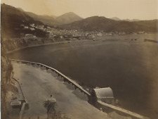 Salerno, Sommer, Panorama Vintage albumen print Tirage albuminé  18x24  Ci