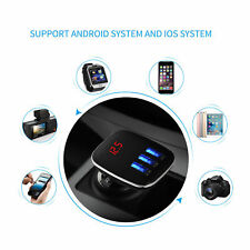 KIT Auto Vivavoce LCD LETTORE MP3 Radio Trasmettitore FM Wireless Bluetooth USB/SD