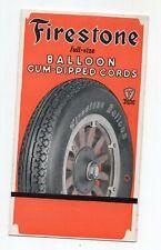 Vintage Firestone Balloon Tires Brochure