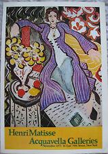 Henri Matiesse ~Acquavella Galleries 1973~ Mini Poster