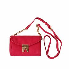NWT Tommy Hilfiger Women's Hot Pink Crossbody Chain Shoulder Bag