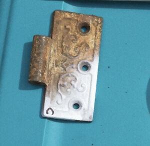 Gate, door hinge half, cast iron.   Item:  9657c