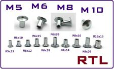 5 Stück Hülsenmutter mit flachem Kopf M8x25 Ø17 RFL Stahl verzinkt