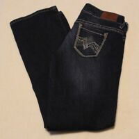 Maurices Women's Straight Blue Jeans, Size 3/4 Short