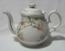 New ListingVintage Crown Dorset Staffordshire England Dogwood Blooms Teapot Cottage Chic