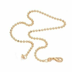 """9K 9ct Yellow """"Gold FILLED"""" Ladies Beads ANKLE CHAIN ANKLET . 10.5"""" Gift"""