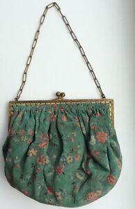 1920s 1930s Handmade Silk Evening Purse, Bag.