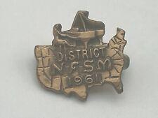 1961 Vintage NFSM Natl Fraternity Of Student Musicians Lapel Pin D2