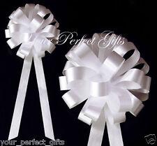 """20 WHITE WEDDING 8"""" PULL BOW PEW BRIDAL CAKE DECORATION"""