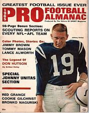1965 Pro Football Almanac magazine, Johnny Unitas Baltimore Colts ~ Good
