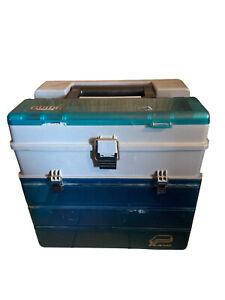 "HUGE  Plano Guide Series Plastic Fishing Tackle Box 15""x15""x9"" READ"