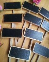 NEU 10 x Beetstecker Preisschilder Pflanzen Steckschilder Tafeln Holztafel Holz