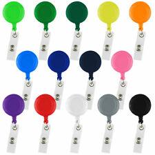 5- 50 Pcs Retractable Badge Reels Keys ID Badge Holder Belt Clip Wholesales Lot