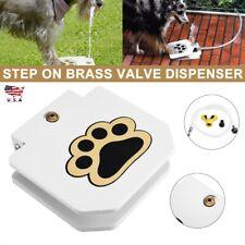 Outdoor Pet Dog Step On Fountain Brass Valve Water Dispenser Clean Fresh System