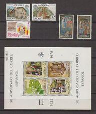 SPANISH ANDORRA (1978) AÑO COMPLETO NUEVO MNH SPAIN - EDIFIL 116/21