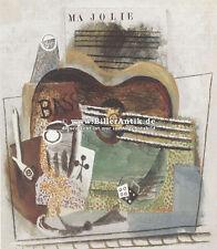 Ma Jolie Musik Würfel Kartenspiel Bass Stilleben Pablo Picasso auf Platte 041