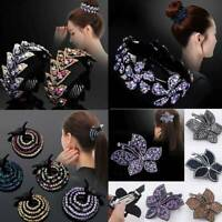 Vintage Women Hair Clip Crystal Claw Ponytail Bun Holder Hair Comb Hairpin Gifts