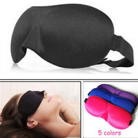 3D Eye Mask & 2 Ear Plugs- Padded Sleep Aid Travel Cover Blindfold-Noise Reducer