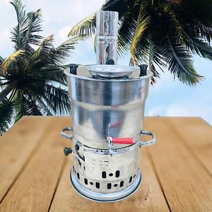Holzkohle Samowar 3,5 Liter ohne Teekanne ,Samovar, Edelstahl Neu