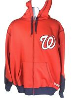 Stitches Washington Nationals Mens Large Hoodie Sweatshirt Baseball Full Zip MLB