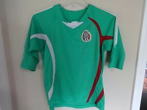 Vintage Mexico National Team Pullover Soccer Jersey Size Youth Med Sewn Crest
