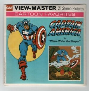 Captain America Marvel Comics Group 1977 View-Master Packet H-43 Exc. Cond.