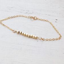 Gold filled beaded bracelet minimalist bracelet