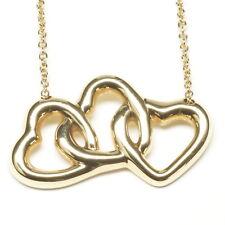 Tiffany Necklace 18K Yellow Gold Three Open Hearts