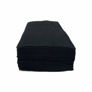 100 x BLACK Hairdressing disposable biodegradable salon towels  80cm x40