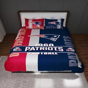 New England Patriots 3pc Full Sheet Set - Full Bed Sheet 2 Pillow Cases
