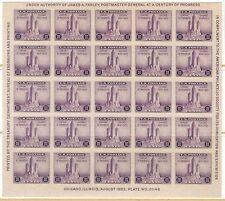 TMM* 1933 US APS souvenir sheet S# 731 Unused/light hinge/no gum
